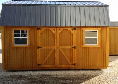 10x16 Side lofted barn wooden portable