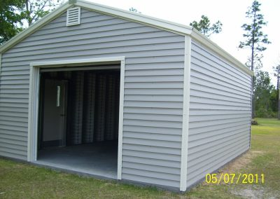 16x20 steel frame garage