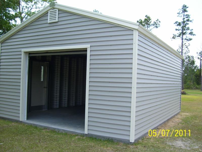 Garage Mobile Al : Steel frame garages southern building structures