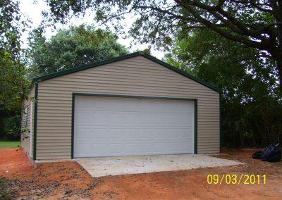 24x24 Steel frame garage