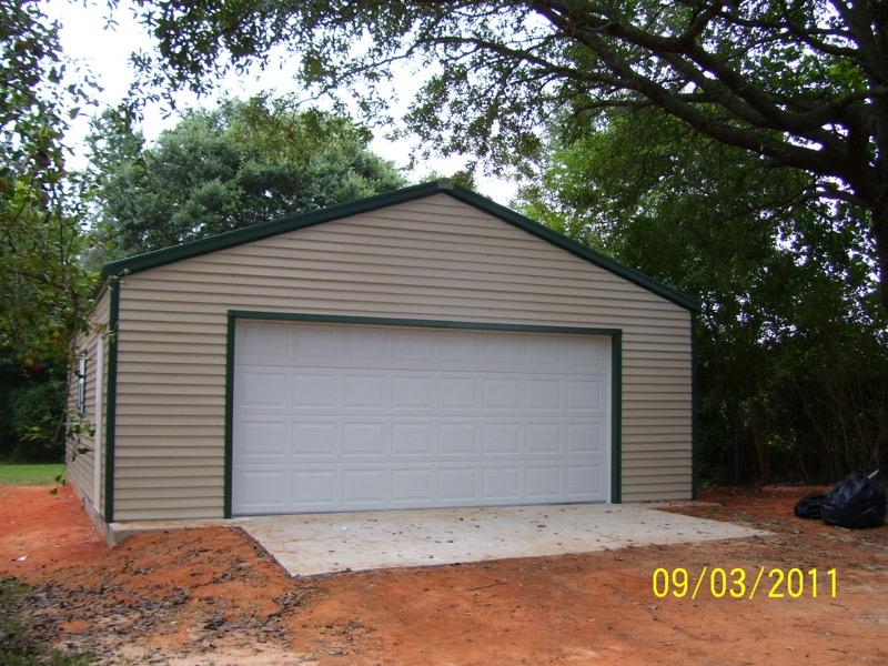 Steel frame garages southern building structures for Garage builders alabama