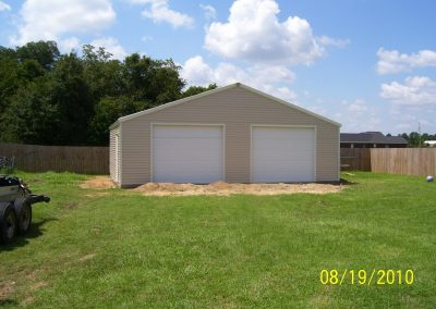28x28 Steel frame Garage