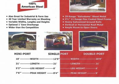 Carport flyer