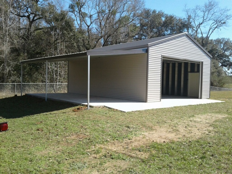 Frame Tech Buildings : Steel frame garages southern building structures
