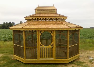 Grassy Ridge gazebo, screened