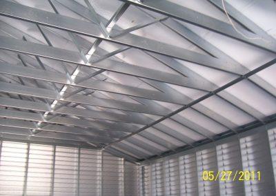 Interior framing steel frame garage