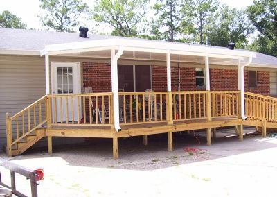 Patio Cover with treated deck