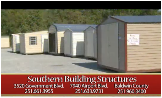 Southern Building Structures | Mobile Alabama And Baldwin County Alabama |  Storage Buildings, Garages, Workshop Patio Covers/Screen Room, Carports, ...