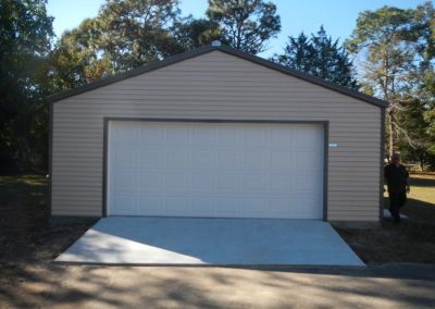 Steel frame garage (4)