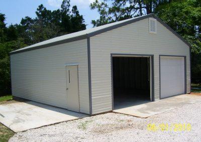 Steel frame garage (5)