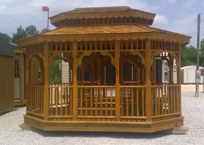 double roof gazebo