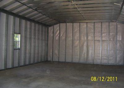 interior veiw insulated garage