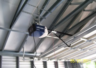 steel frame Garage equipped with auto opener